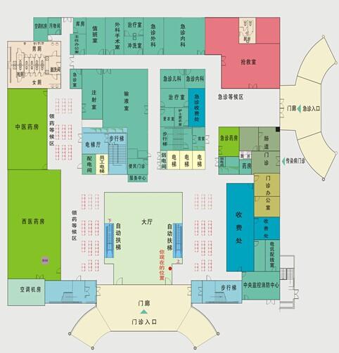 药店诊所室内布置平面图