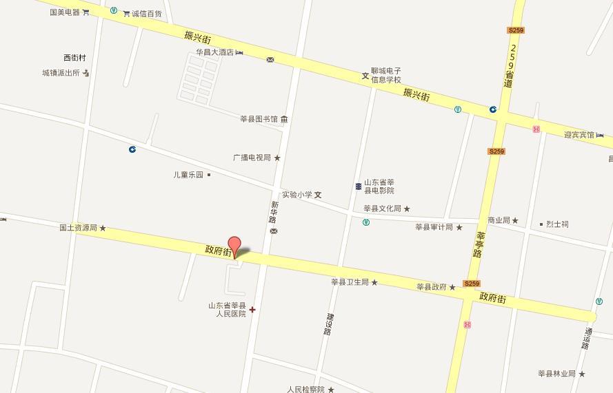 山东聊城莘县地图